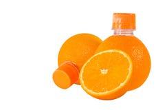 Frischer Orangensaft. Stockfoto