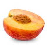 Frischer Pfirsich halb lizenzfreies stockfoto