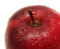 Frischer roter Apfel getrennt auf Weiß stockfotos
