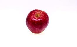 Frischer roter Apfel trennte Stockbilder