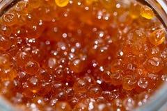 Frischer roter Kaviar stockbild