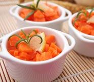 Frischer Salat der Karotten Stockbild