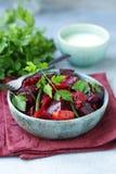 Frischer Salat der roten roten R?be stockfotografie