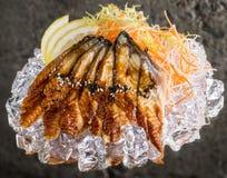 Frischer Sashimi auf Eis Stockbild