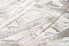Frischer Schnee Stockfotografie