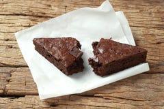 Frischer Schokoladenkuchen von der Herstellung selbst gemacht stockfotos