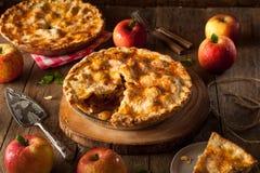 Frischer selbst gemachter Apfelkuchen Stockfotos