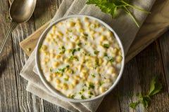 Frischer selbst gemachter gesahnter Mais lizenzfreies stockbild