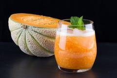 Frischer Smoothie der Melone Stockbilder
