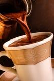 Frischer türkischer Kaffee. Stockbild