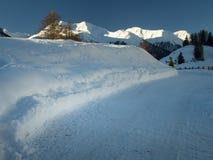 Frischer tiefer Schnee Lizenzfreie Stockfotografie