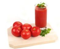 Frischer Tomatesaft Lizenzfreie Stockfotos