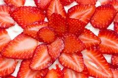 Frischer und geschmackvoller Erdbeerekuchen Stockbilder