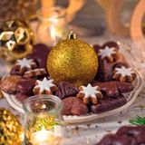 Frischer und geschmackvoller Weihnachtslebkuchen lizenzfreie stockfotografie