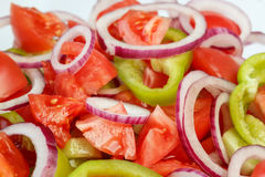 Frischer und gesunder Gemüsesalat Stockfoto