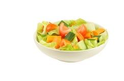 Frischer und gesunder Salat hielt in einer Schüssel Lizenzfreie Stockbilder