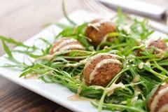Frischer vegetarischer Falafel Stockfotos