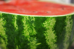 Frischer Zuckerroter Wassermelonenabschluß oben Lizenzfreie Stockbilder