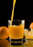 Frischer zusammengedrückter Orangensaft Lizenzfreies Stockfoto