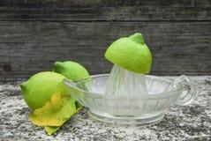 Frischer zusammengedrückter Zitronensaft Stockfoto