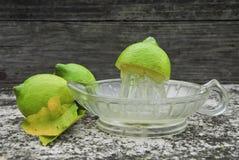 Frischer zusammengedrückter Zitronensaft Lizenzfreie Stockbilder