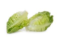 Frisches Baby Lattich (Kopfsalat) auf Weiß Stockfotos