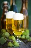 Frisches Bier stockfotos