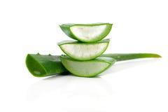 Frisches Blatt Aloeveras Lizenzfreies Stockfoto
