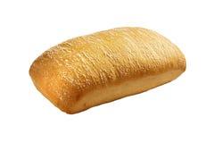 Frisches Brot auf einem weißen Hintergrund Stockbilder