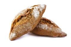 Frisches Brot auf weißem Hintergrund stockfotografie
