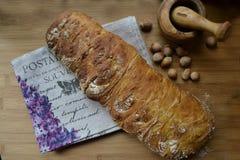 Frisches Brot ciabatta Stockfotos