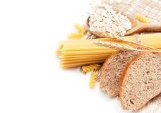 Frisches Brot mit Weizenspitzen, Haferflocken und maca Lizenzfreie Stockbilder