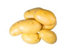 Frisches der weißen Kartoffeln ausgewählt lokalisiert Lizenzfreie Stockfotografie