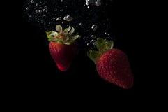 Frisches Erdbeerspritzen lizenzfreies stockbild