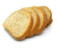 Frisches gebackenes Brot geschnitten Stockbild