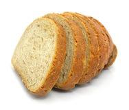Frisches gebackenes Brot geschnitten Lizenzfreie Stockfotos