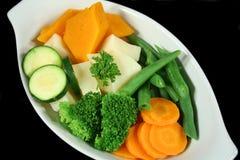 Frisches gedämpftes Gemüse Lizenzfreies Stockbild