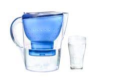 Frisches gefiltertes Wasser für Getränk Stockfotografie