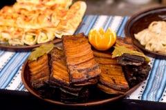 Frisches gegrilltes Rindfleisch mit den Gemüsekebabs, shish, Kebab, Grill stockfotos