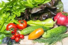 Frisches geschmackvolles Gemüse für das Kochen Stockbild