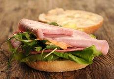 Frisches geschmackvolles Sandwich Lizenzfreies Stockbild