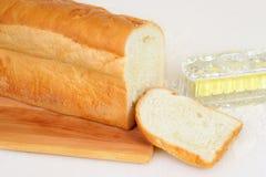 Frisches geschnittenes Weißbrot Lizenzfreies Stockfoto