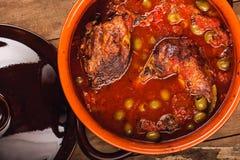 Frisches heißes selbst gemachtes Eintopfgericht Stockfoto
