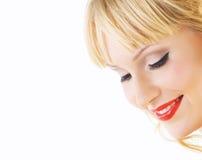 Frisches helles Gesicht der Nahaufnahme Stockfoto