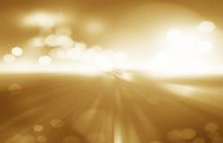 Frisches Herbstfrühlings-Goldgras mit bokeh und Sonnenlicht schönheit Stockbild