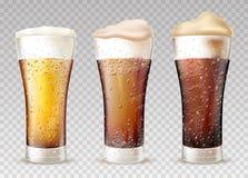 Frisches, kaltes Bier im nass Glasvektor vektor abbildung