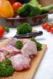 Frisches Kaninchenfleisch stockfotos