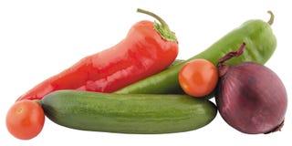 Frisches lokalisiertes Gemüse Stockfoto