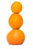 Frisches mixure von Obst und Gemüse von mit weißem Hintergrund Stockfoto