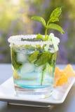 Frisches mojitos Cocktail mit Nachos Lizenzfreies Stockbild